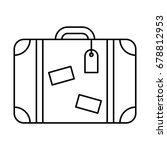 Line Icon Suitcase  Isolated O...