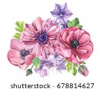 bouquet of beautiful flowers... | Shutterstock . vector #678814627