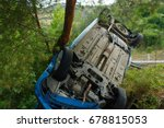 car accident on a mountain...   Shutterstock . vector #678815053