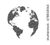 lowpoly globe. america  europe  ... | Shutterstock .eps vector #678818563