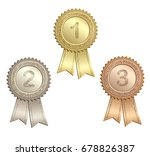 set of circle awards with... | Shutterstock .eps vector #678826387