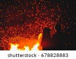 couple in love standing in... | Shutterstock . vector #678828883