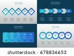 vector infographic set.... | Shutterstock .eps vector #678836653