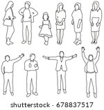 people collection  sketches ... | Shutterstock . vector #678837517