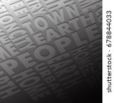 background consisting of words  ... | Shutterstock .eps vector #678844033