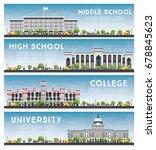 set of university  high school... | Shutterstock .eps vector #678845623