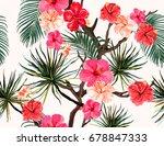 beautiful seamless vector... | Shutterstock .eps vector #678847333