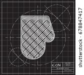vector blueprint kitchen glove... | Shutterstock .eps vector #678847417