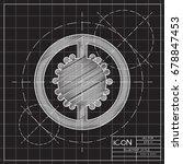 vector blueprint tomato slice... | Shutterstock .eps vector #678847453