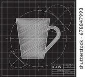 vector blueprint cup for tea or ... | Shutterstock .eps vector #678847993