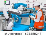 maintenance engineer programing ... | Shutterstock . vector #678858247