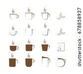 coffee icon set  line art icon  ... | Shutterstock .eps vector #678858937
