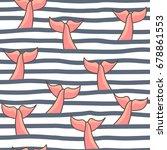 nautical seamless background.... | Shutterstock .eps vector #678861553