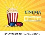 movie cinema poster design.... | Shutterstock .eps vector #678865543