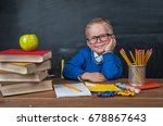 hild with a toy car while... | Shutterstock . vector #678867643