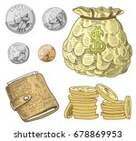 detailed currency banknotes or...   Shutterstock .eps vector #678869953