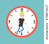 running out of time conceptual... | Shutterstock .eps vector #678872617