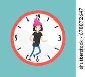 running out of time conceptual... | Shutterstock .eps vector #678872647
