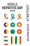 world hepatitis day  july 28 ... | Shutterstock .eps vector #678879307