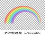 rainbow icon. transparent... | Shutterstock . vector #678886303
