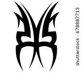 tattoo tribal vector design....   Shutterstock .eps vector #678887713