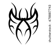 tattoo tribal vector design.... | Shutterstock .eps vector #678887743