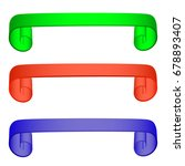 set of 3d colored ribbons for... | Shutterstock .eps vector #678893407