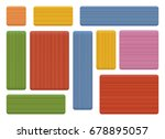 pieces of wood  natural...   Shutterstock .eps vector #678895057