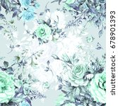 watercolor seamless pattern... | Shutterstock . vector #678901393