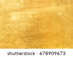 shiny yellow leaf gold foil... | Shutterstock . vector #678909673