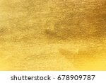 shiny yellow leaf gold foil... | Shutterstock . vector #678909787