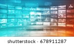 online research concept on data ... | Shutterstock . vector #678911287