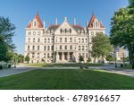 new york state capitol building ... | Shutterstock . vector #678916657
