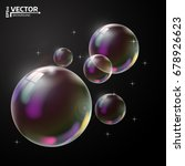 transparent soap bubble. vector ... | Shutterstock .eps vector #678926623
