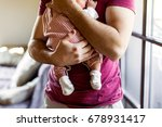 unrecognizable young father at... | Shutterstock . vector #678931417