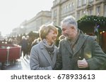 a mature married couple are... | Shutterstock . vector #678933613