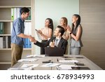 business people clapping in...   Shutterstock . vector #678934993