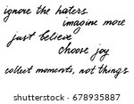 motivational phrases script... | Shutterstock .eps vector #678935887
