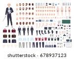 teacher character constructor.... | Shutterstock .eps vector #678937123