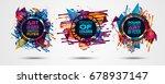 futuristic frame art design... | Shutterstock .eps vector #678937147