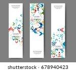 set of web banner templates for ... | Shutterstock .eps vector #678940423