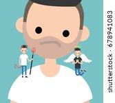 angel and devil. decision... | Shutterstock .eps vector #678941083