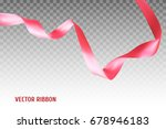 pink vector ribbon made with... | Shutterstock .eps vector #678946183