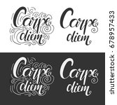carpe diem. latin aphorism ... | Shutterstock . vector #678957433