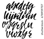 hand drawn dry brush font.... | Shutterstock .eps vector #678959707