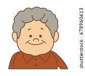 portrait happy grandfather man...   Shutterstock .eps vector #678960613