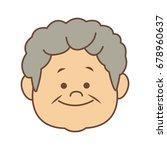 portrait happy grandfather man...   Shutterstock .eps vector #678960637