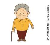 portrait happy grandfather man...   Shutterstock .eps vector #678962083