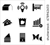 set of 9 mixed icons such as...   Shutterstock .eps vector #678962653
