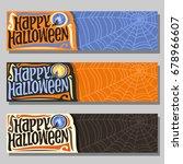 vector banners for halloween... | Shutterstock .eps vector #678966607